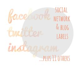 14 water-colour Social Media and Blog Buttons. Elegant and unique for blog / website customisation.. $5.00, via Etsy.