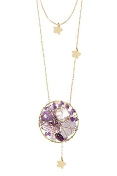 Miriam Merenfeld Entwine Collection Floral Amethyst Necklace by Fashionable Finds on @HauteLook