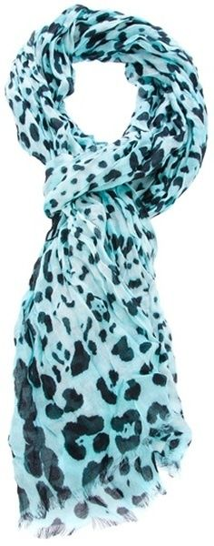 I love scarves... this print & color is adorable