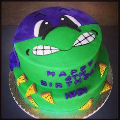 Teenage Mutant Ninja Turtle cake #TMNT #SweetSweetJules