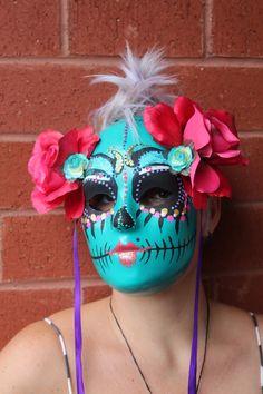 Sugar Skull Mask Dia de los Muertos by SugarShoppeofHorrors
