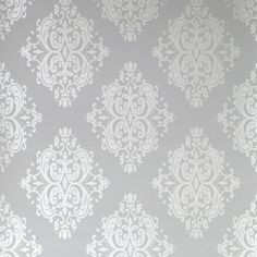 Silver Wallpaper, Textured Wallpaper, Wallpaper Samples, Home Wallpaper, Swedish Decor, Ceiling Medallions, Fabric Painting, Room Interior, Wall Design