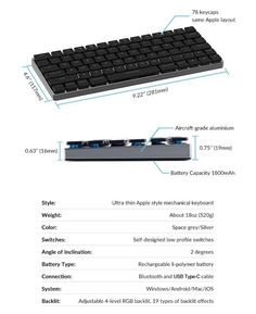 Vinpok Taptek, Thinnest Wireless Mac Mechanical Keyboard Self Design, Keyboard, Mac, Layout, Black Friday, Accessories, Page Layout, Poppy