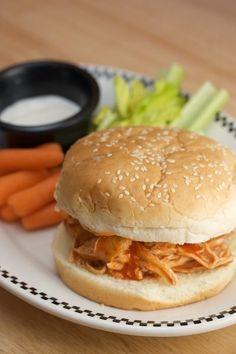 Slow-Cooker Buffalo Chicken Sandwiches