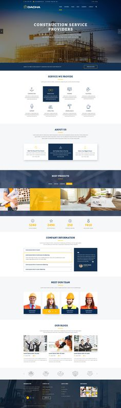 Grid Web Design, Ui Ux Design, Icon Design, Web Layout, Layout Design, Blue Website, Construction Website, Best Website Templates, Web Design Inspiration