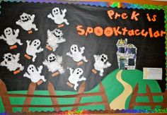 Halloween Bulletin Board Ideas to give your Classroom a Spooky Look - Hike n Dip - - Thinking about giving your classroom a spooktacular look for October? Have a look at these wonderful Halloween Bulletin board Ideas for your classroom. October Bulletin Boards, Halloween Bulletin Boards, Preschool Bulletin Boards, Bulletin Board Display, Classroom Bulletin Boards, Classroom Ideas, Bullentin Boards, Classroom Door, Toddler Classroom