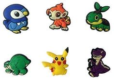 Pokemon and Dinos Dinosaurs Time Before Land Shoe Charms 6 Pcs Set 1 *** Check out this great product.