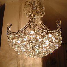 Gold & Crystal Chandelier