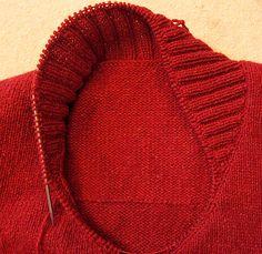 Einen Schalkragen stricken   Tichiro - knits and cats