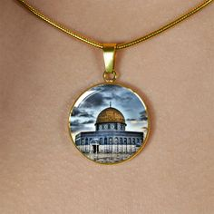 Al Qods - Gold Finish Necklace Us Patent, Patent Pending, Islamic Gifts, Glass Coating, Working Moms, Exceed, Moth, Muslim, Gifts For Women