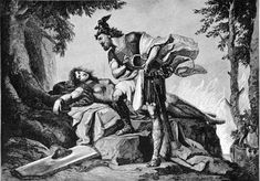 Siegfried awakens Brunhild