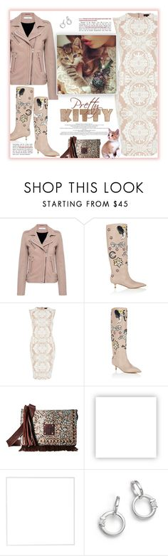 """""""Pretty Kitty Heels"""" by fassionista ❤ liked on Polyvore featuring IRO, Valentino, River Island, STS Ranchwear, Olsenboye, Menu, Roberto Coin, Boots, lace and valentino"""