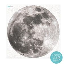 This wall sticker featuring a full moon and stars will quickly transform children's rooms and nurseries. Perfect for space or astronaut themed rooms.