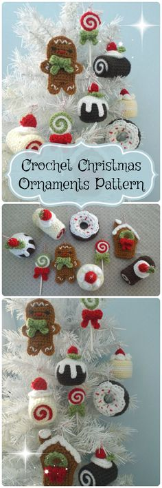 9 Christmas Ornaments to Crochet. Amigurumi Pattern for all these quick last minute handmade gifts. Great thing to make for co-workers! #etsy #crochet #amigurumi #pattern #affiliate