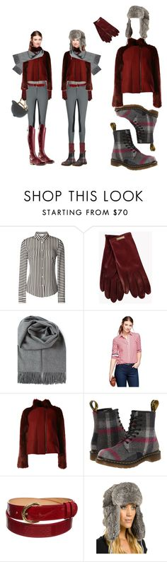 """Trekking to the barn"" by stylemyride ❤ liked on Polyvore featuring RED Valentino, Dsquared2, Brooks Brothers, Giamba, Dr. Martens, Rolex, Louis Vuitton, FRR, women's clothing and women"