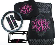 Classy Black Floral Car Accessories MIX & MATCH Car Floor Mats