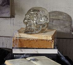 Fabulous Halloween decoration idea skull spider silver
