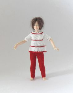 Dollhouse Miniature 1:12 Scale Outfit Top and by MiniatureJoy