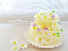 フラワーケーキのキャンドル