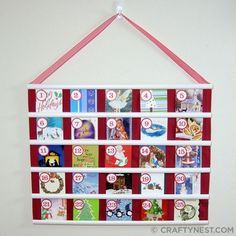 Advent calendar featuring old Christmas cards