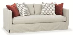 The new Dorianna Bench Seat Slipcovered Sofa...clean lines & fabulous! Also available in a 2 Seat Style.