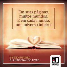 """""""Um país é feito de homens e de livros."""" Monteiro Lobato  #JTavaresConsultoriaImobiliária #DiaNacionaldoLivro"""
