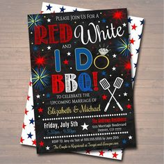 of July Party Ideas - Modern Baby Q Invitations, Invitation Text, Invitation Design, Invite, Shower Invitations, July 4th Wedding, 4th Of July Party, Fourth Of July, July Wedding Colors