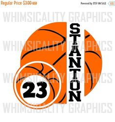 This product is a compressed zip of digital files (SVG, DXF, PNG) of our Basketball With Small Basketball For Monogram graphic. This zip file is for COMMERCIAL and PERSONAL USE. If you would like it only for personal use, please request a CUSTOM ORDER. The personal use only file is always $1 less than the commercial price. This files comes blank. Varsity Regular font was used for the name and Comix Loud for the number.   INCLUDED: 1 SVG File 1 DXF File 1 PNG File - Transparent 1 PNG File…