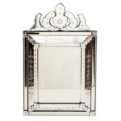 Elegant Rectangular Venetian Mirror
