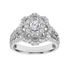 Vera Wang Love Collection 1 1 2 Ct T W Oval Diamond