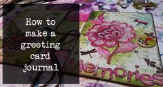 how to make a greeting card junk journal