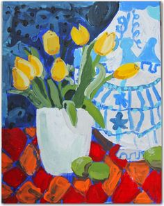 Wasn't sure what board to put this lovely tulips painting on - it was painted by a 7-year old!  (http://www.tphblog.com)