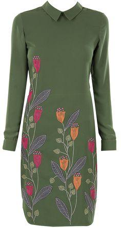 Green bean stalk tunic by NAMRATA JOSHIPURA.http://www.perniaspopupshop.com/designers-1/namrata-joshipura
