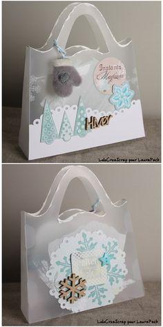 Petit sac Maeva en #Priplak, design Laura Pack, décoré par Lolocréascrap pour Laura Pack Boutique