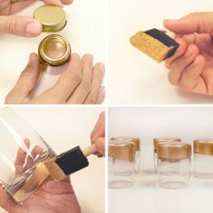 Gold Dipped Glasses by Emily Jeffords   Project   Home Decor / Coasters & Tableware   Kollabora