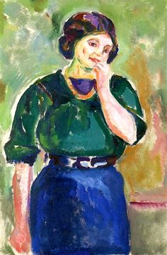 Model in Green and Blue Edvard Munch - 1912-1915