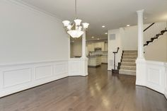 Dining room to kitchen and staircase