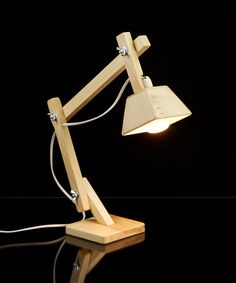 Structural Wood Desk Lamp at dotandbo.com