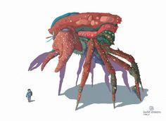 crab, Tomas Ciger Eniac on ArtStation at https://www.artstation.com/artwork/8VyoO