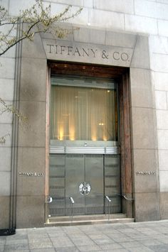 Tiffany & Co.  How can I get behind these doors.  Hmmmm!