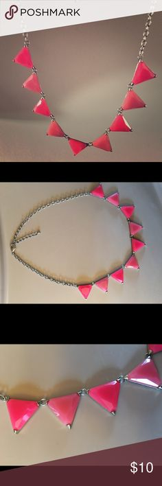 Gorgeous pink triangle necklace Purchase at Francesca's this necklace is so beautiful 💗 perfect statement necklace Jewelry Necklaces