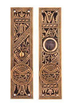 Oriental Drum Doorknob Entry Sets By Charleston Hardware Company.