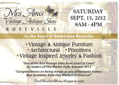 The Olive and Rose: Mes Amis Vintage Antiques Show. Check out Pomegranate at the show, also in Chico at 8th/Main