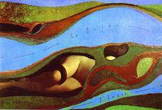 """""""El jardín de Francia"""", óleo de Max Ernst (1891-1976, Germany)"""