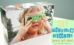 Picture blocks, fun gift idea for kids, or a desk idea for mom/dad