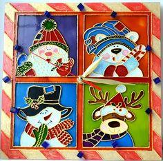 Christmas Wall Clock.Kids wall clock.For children's