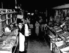 Inside St Roch Market in 1938