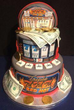 Slot machine cake by tracy's custom cakery casino theme birthday party Casino Party, Casino Theme Parties, Casino Night, Party Themes, Vegas Party, Jack O'connell, Chips Ahoy, Slot Car Tracks, Slot Cars