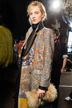 Daria Strokous. Dries Van Noten Fall 2012. #print #backstage
