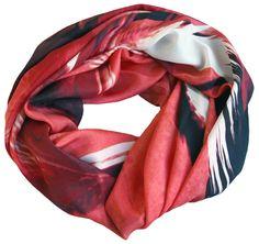 Good & Co - Red Birds silk scarf